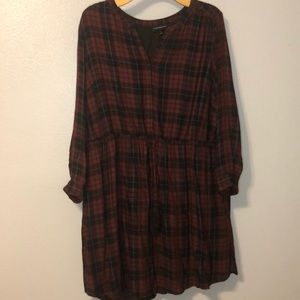 Plaid Dress with Pockets